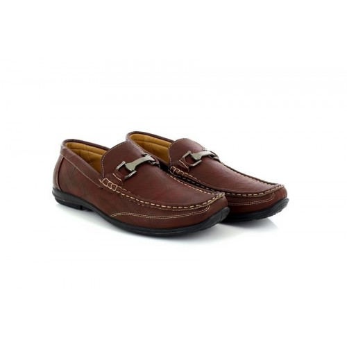 Mens Brixton C003 Brown Slip On Loafer Driver Smart Casual Shoes Size UK 7-12