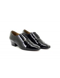 Mens Lucini Patent Lace Up Cuban Heel Smart Formal Shoes