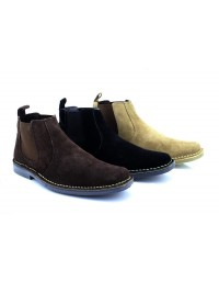 Roamers Freddy M765 Leather Twin Gusset Ankle Desert Boots