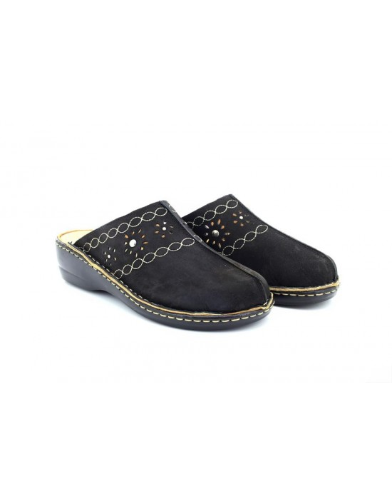 e2f50022c Natrelle Cathleen Ladies Black Comfort Slip on Nursing Mule Sandal Shoes  Natrelle Cathleen Ladies.