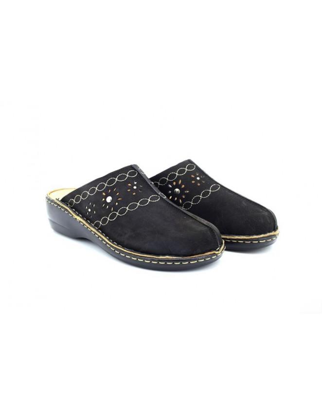 Dr Keller Cathleen Ladies Wide Fit Slip On Nursing Mule Sandal Shoes
