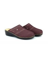 Natrelle Cathleen Ladies Plum Comfort Slip on Nursing Mule Sandal Shoes