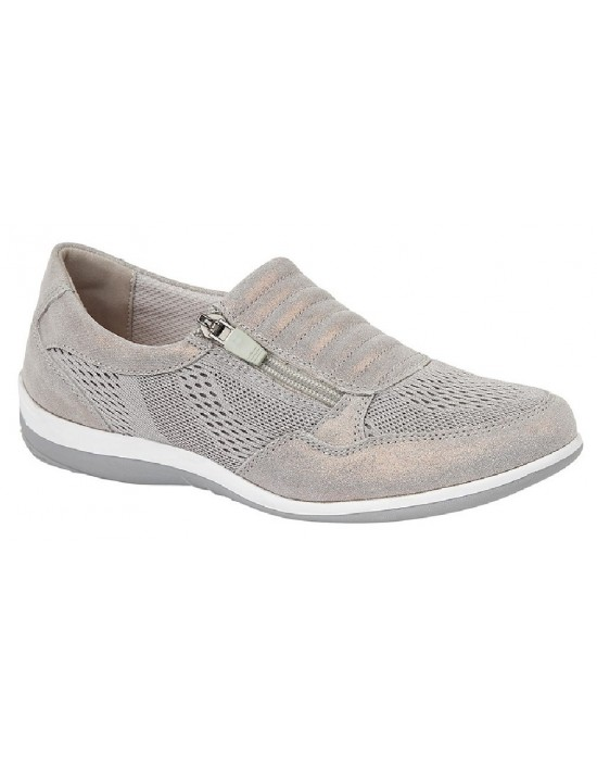 BOULEVARD L534 Side Zip/Gusset Leisure Casual Trainer Shoes