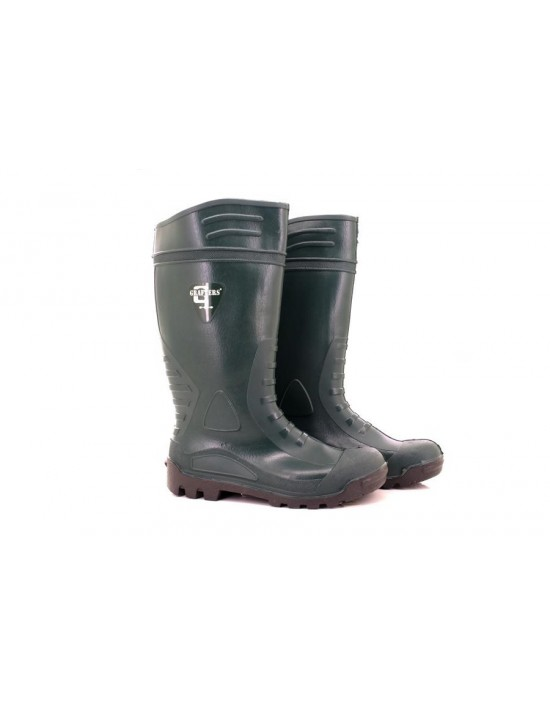 Unisex Grafters W393 Ribbed Full Safety Toe Cap Steel Mid sole Wellingtons