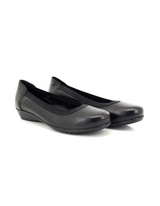 Ladies Mod Comfys L224 Leather Elasticated Top Band Casual Shoes