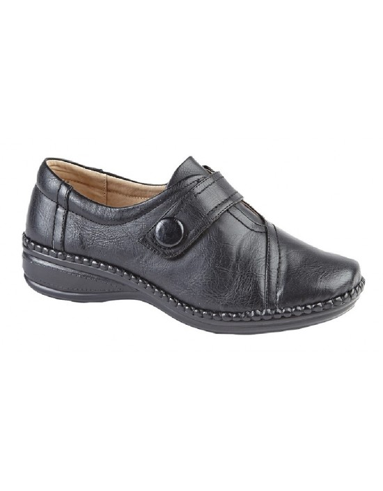 Boulevard L436 XXX Wide Fit Touch Fastening Bar Slip On Shoes