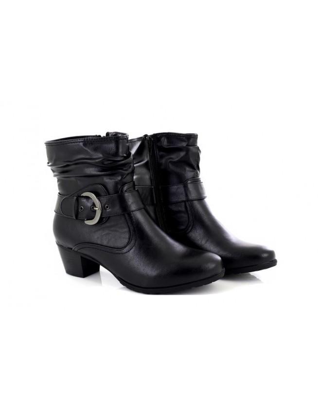 586ce9e2fbd Ladies Black Silvie Low Block Heel Ankle Boots