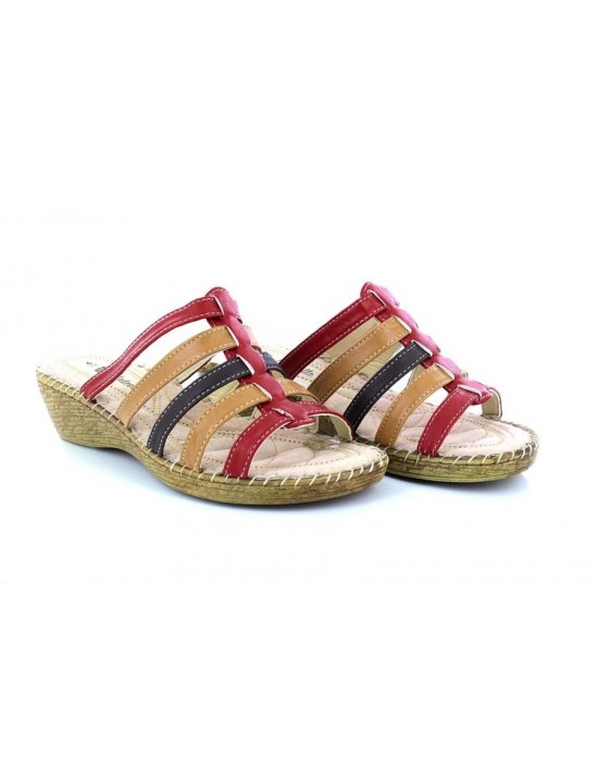 f630585ca Natrelle Clarice Wide Fit Twin Slip On Multi Summer Padded Wedge Sandals  Natrelle Clarice Wide Fit.