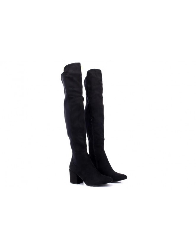 58b12247d31b New Ladies Truffle Collection Block Heel Knee High Boot Tall Long Over the  Knee Shoes