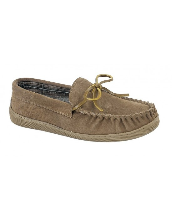 Sleepers ADIE MS461 Leather Full Indoor Quality Moccasin Slippers