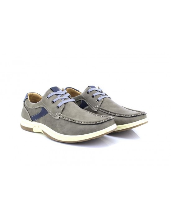 Dr Keller Grey 3 Eye Leisure Deck Type Boat Shoes