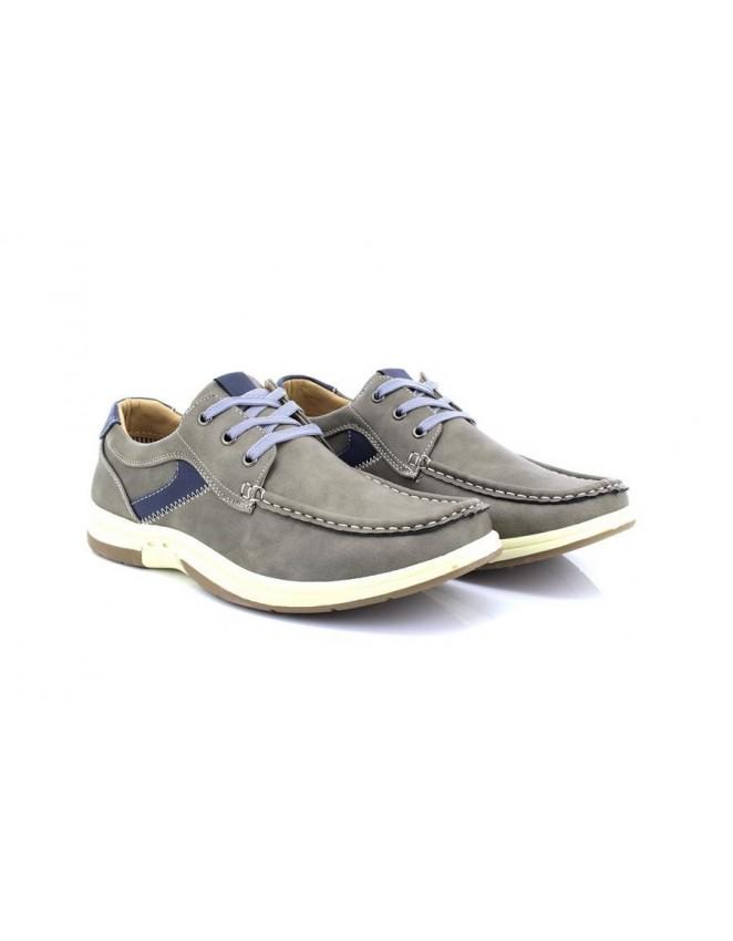 Dr Keller Grey 3 Eye Leisure Deck Type Boat Shoes