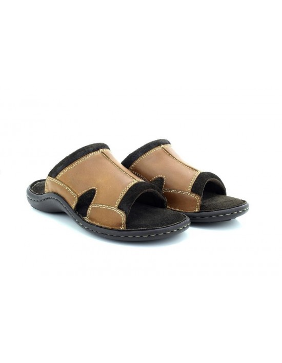 Edit: Mens Dr Keller Suede Leather Brown Ultra Padded Summer Mule Sandals