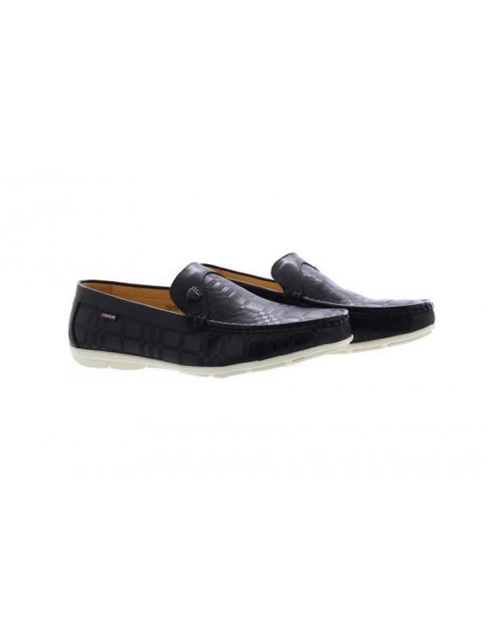Mens Frank Leather branded Designer Slip On Loafer Mocassin Driving Shoes