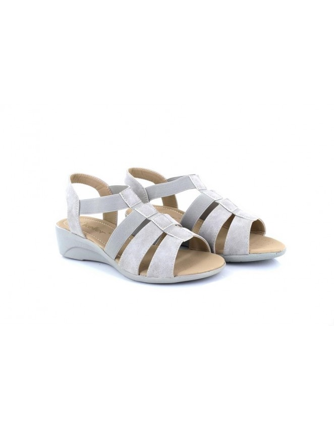 Dr Keller Ladies Womens Slingback Summer Sandals Silver