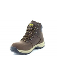 Apache Nelson Industrial Dark Brown 6 Eyelet Steel Toe Boots Heavy Duty