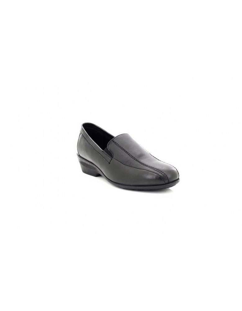Dr Keller Erica Black Square Toe Slip On Shoes