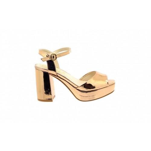 d69d966fd1 Ladies Truffle Collection Exclusive Rose Gold Block Heel Sandals | eBay