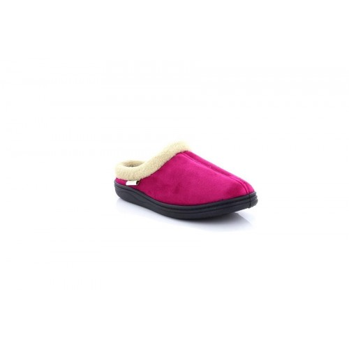 fc37390f548 Dr.Keller Ladies Muriel Pink Warm Fur Lined Slip On Slipper Mules