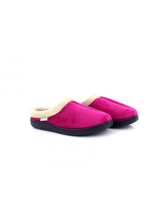 81d7af910fa Dr.Keller Ladies Muriel Pink Warm Fur Lined Slip On Slipper Mules
