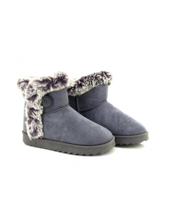 Dr Keller Womens Grey Faux Suede Ankle Boot Winter Warm Boots