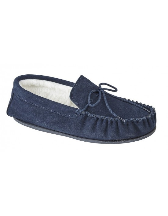 Mens Mokkers OLIVER Genuine Handcrafted Suede Moccasin Slippers