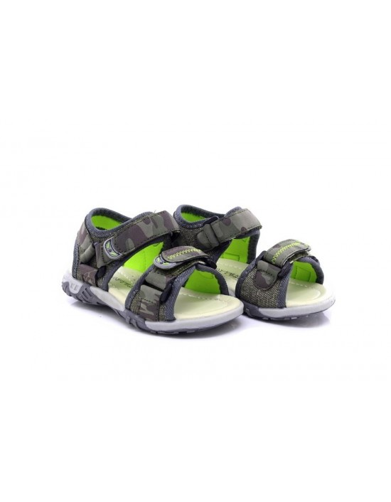 Boys Childrens Beach Walking Sandals Grey Camo Khaki Touch Fastening