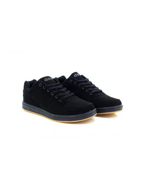 Unisex Dek QUARK Black Skate Synthetic Nubuck Trainers