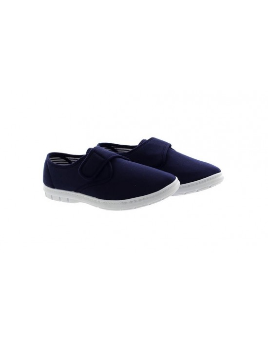 Men's Kevin Soft Navy Touch Fasten Casual Canvas Shoes
