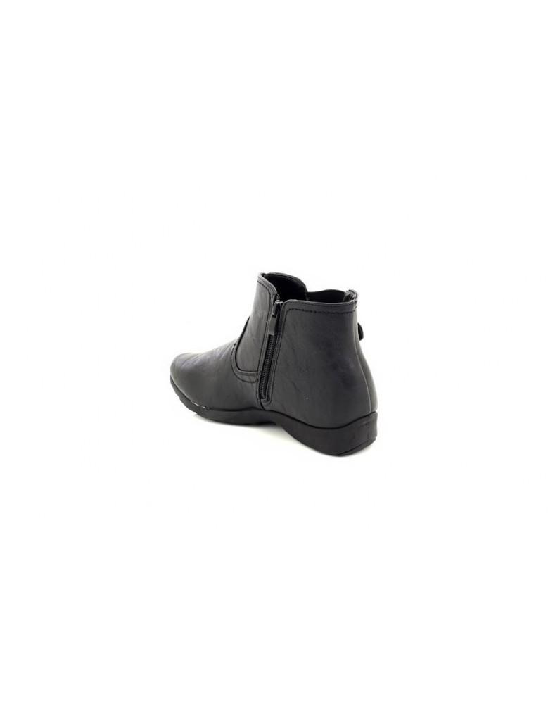 Dr Keller Kressy Black Zip Fastening Casual Comfort Ankle Boots