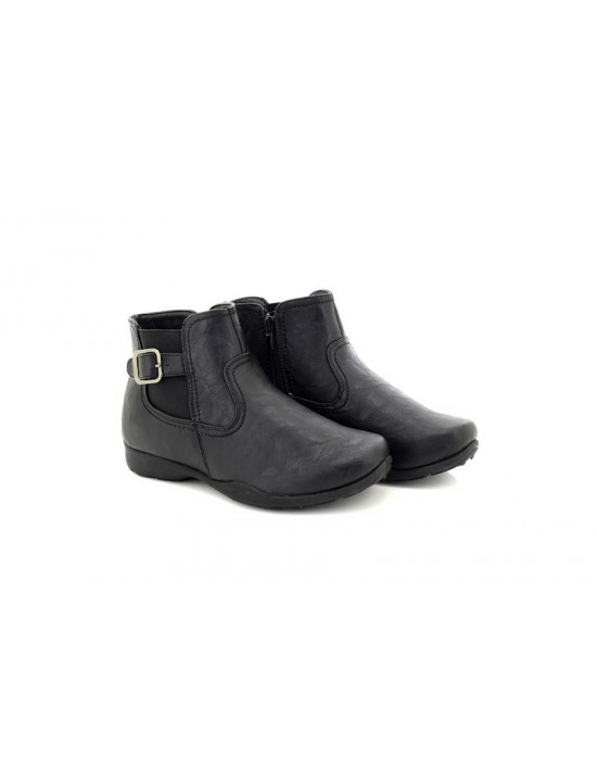Ladies Womens Black Strap Fastening Casual Comfort Dr Keller Shoes Boots