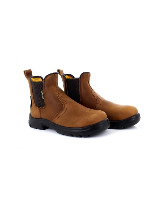 Mens EEEE Wide Fit Safety Boots Leather Dealer Chelsea Steel Toe Work Boot Shoes