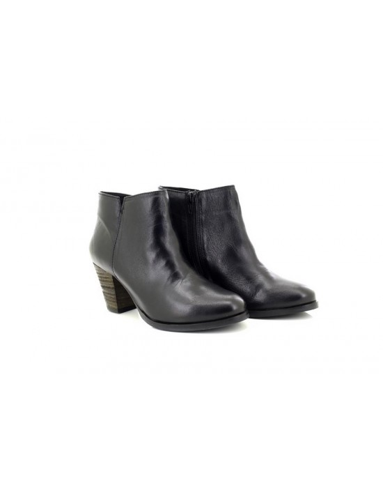 Ladies Mod Comfys L240A Black Leather Ankle Boots