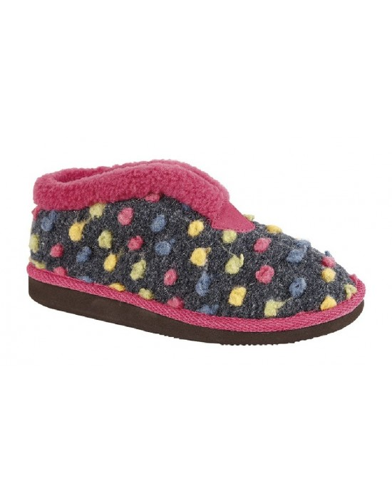 Sleepers Ladies Multicoloured Tilly Bootee Slippers