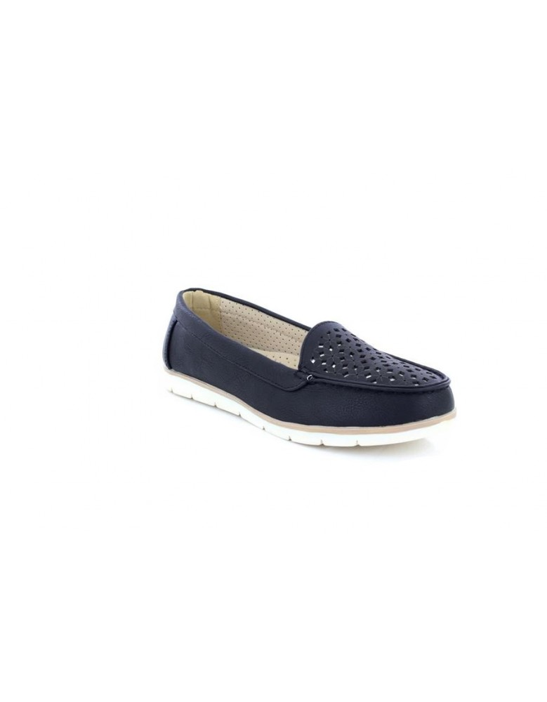 cc0d58079194 Dr Keller Womens Loafers Wide Fit Flexi Sole Comfort Sock Tan And Black