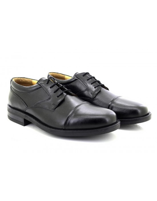 Roamers Capped Gibson Leather Fuller Wide Fitting Shoes