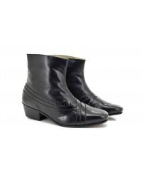 Montecatini MT5113 Mens Cuban Heel Italian Reptile Leather Boots