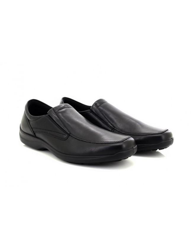 Mens IMAC Trevor Black Leather Casual Comfort Shoes