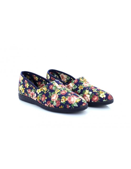 Sleepers ROSE Roll Top Cotton Full Wide Fit Slipper