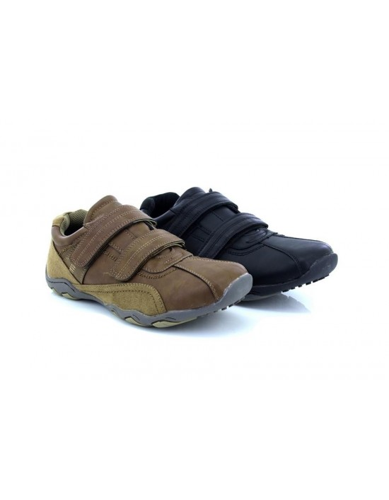 Route21 'Neil' Casual Twin Touch Fastening Trainer Leisure Shoes