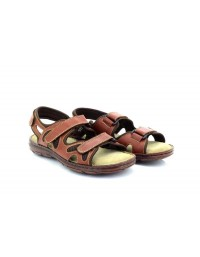 Roamers M168 Leather Comfort Padded 3 Touch Fastening Summer Sandals