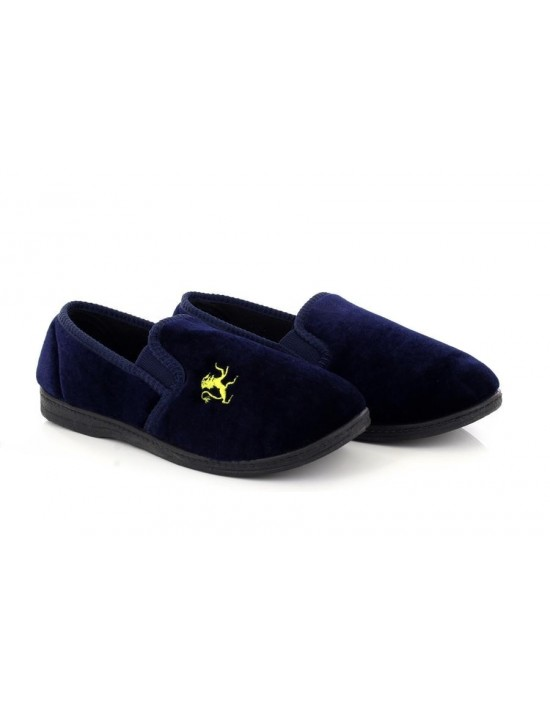 Sleepers BS286 Boys KYLE Lion Motif Indoor Slippers