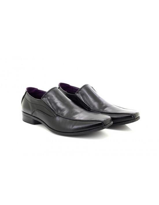 Mens U.S.Bras M501 Black Square Toe Slip On Formal Shoes
