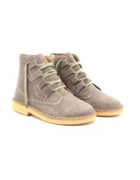 Roamers M327 Dark Taupe Real Suede Ghillie Tie Desert Boots