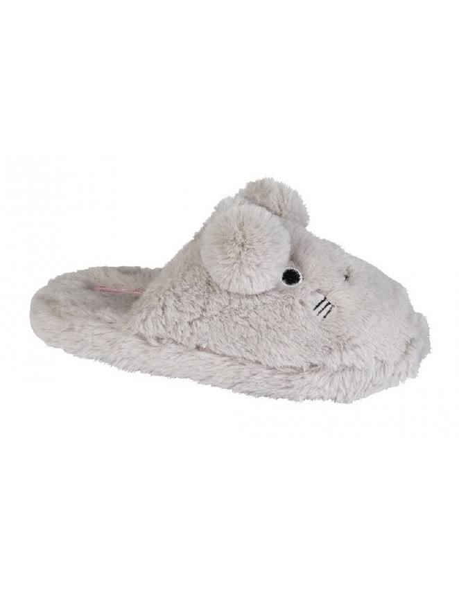 bf7588f4d0 Childs Girls Mule Slippers Zedzzz TRACI Textile Funny Bunny