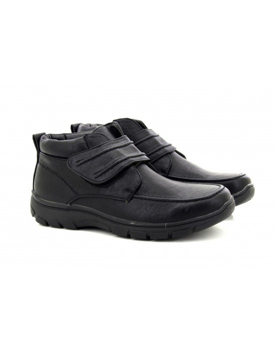 Mens Scimitar Winter Warm Lined Touch Fastening Ankle Boots