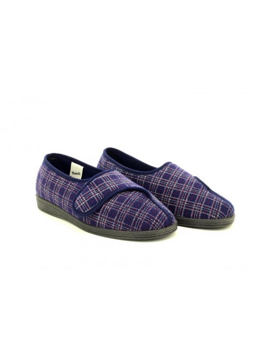 Sleepers JULIAN II Machine Washable X Wide Fitting Touch Fastening Slipper