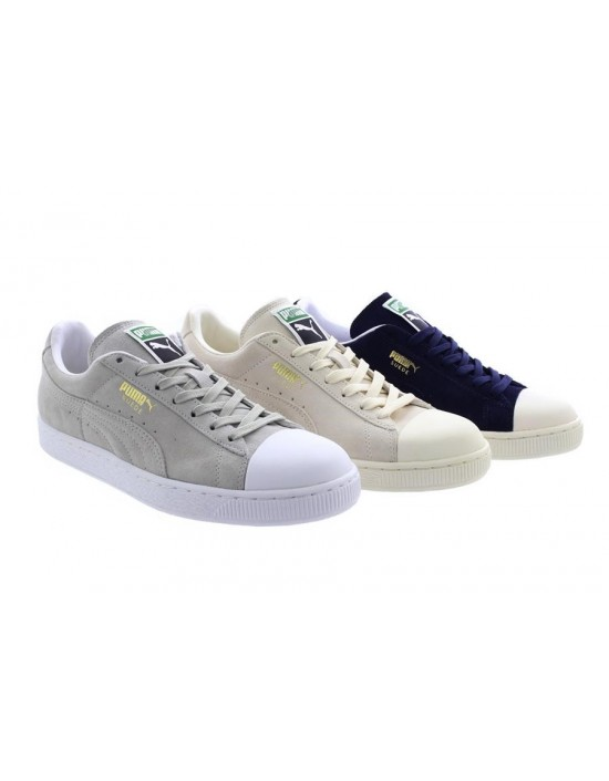 Unisex Puma Suede Classic Trainers Navy Grey Whisper White