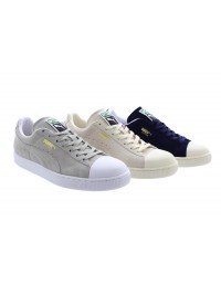 Mens Puma Suede Classic Trainers Navy Grey Whisper White