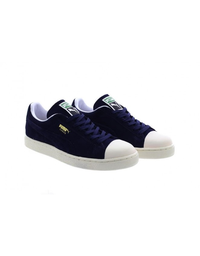 518f618a7280 New Mens Puma Suede Classic Trainers Navy Grey Whisper White